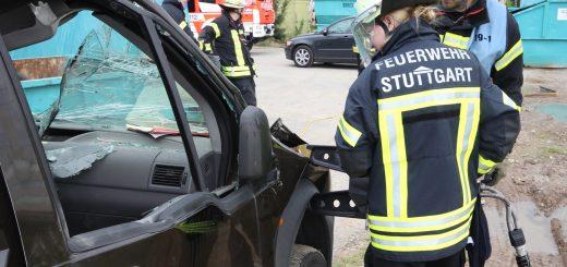 Technische Rettung Übung Feuerbach 2016
