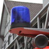 Blaulicht / Martinshorn an Drehleiter